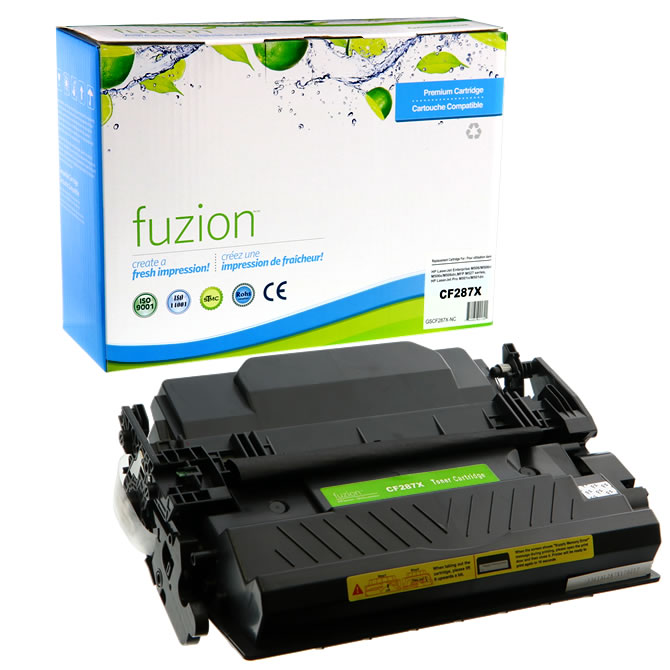 FUZION Brand - HP CF287X High Yield Toner Cartridge - Black
