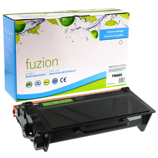 FUZION Brand - Brother TN-880 Toner Cartridge - Super High Yield