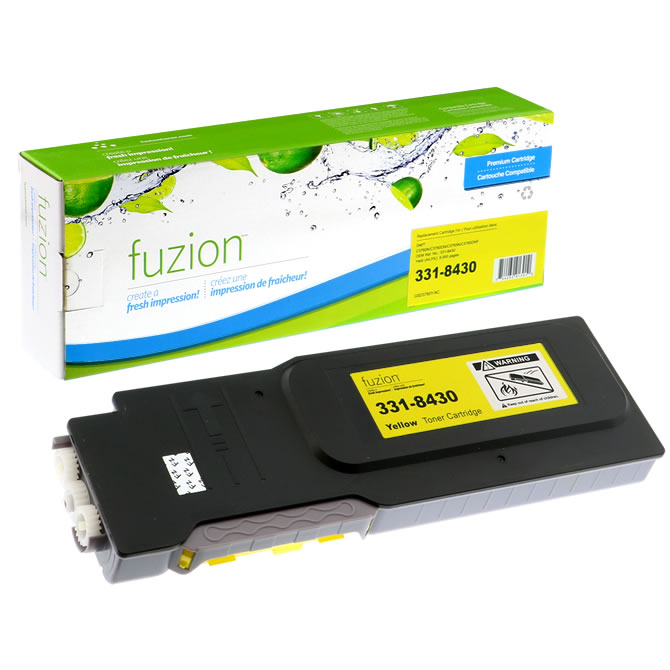 FUZION Brand - Dell C3760N Toner - Yellow
