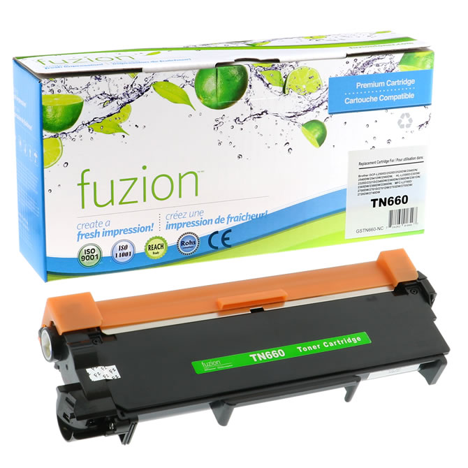 FUZION Brand - Brother TN660 Compatible Toner - Black